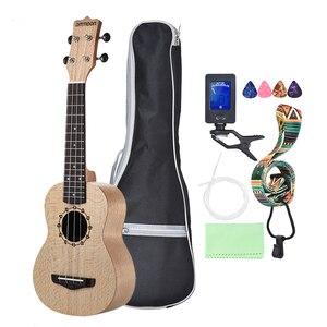 """Image 4 - ammoon Series Ululele 21"""" Ukulele Set 15 Fret 4 Strings Stringed Musical Instrument 19 Styles Ukulele"""