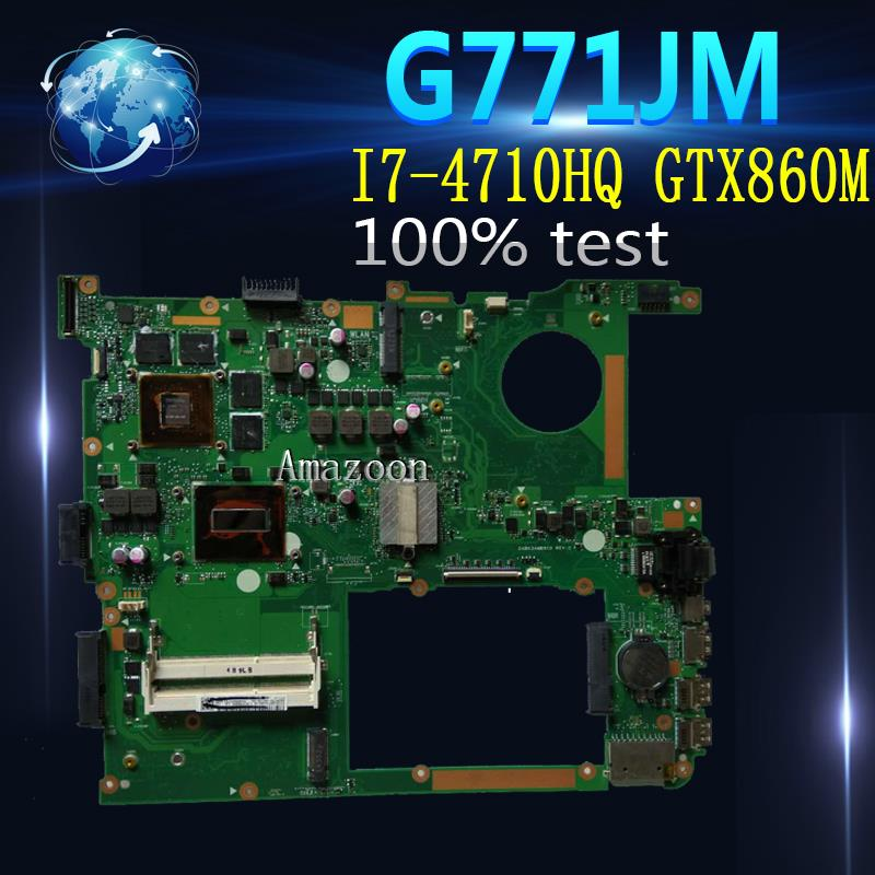 Amazoon  G771JM Laptop motherboard for ASUS G771JM G771JW G771J G771 Test original mainboard I7-4710HQ/4720HQ GTX860M-2G/4G EDP