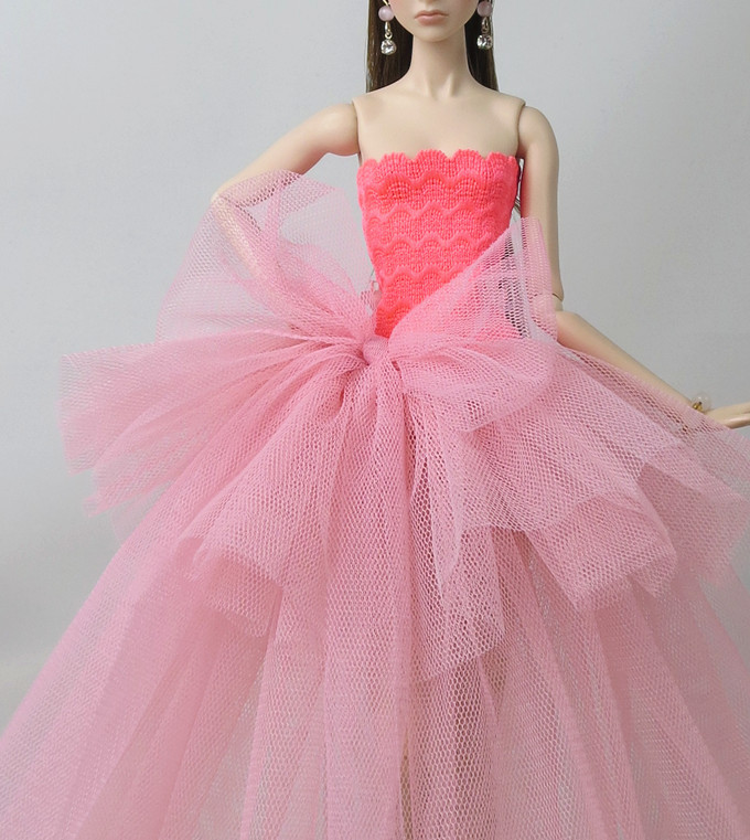 Elegant Dress For 12inch Doll Clothes Evening Dress Skirt Dolls Accessories