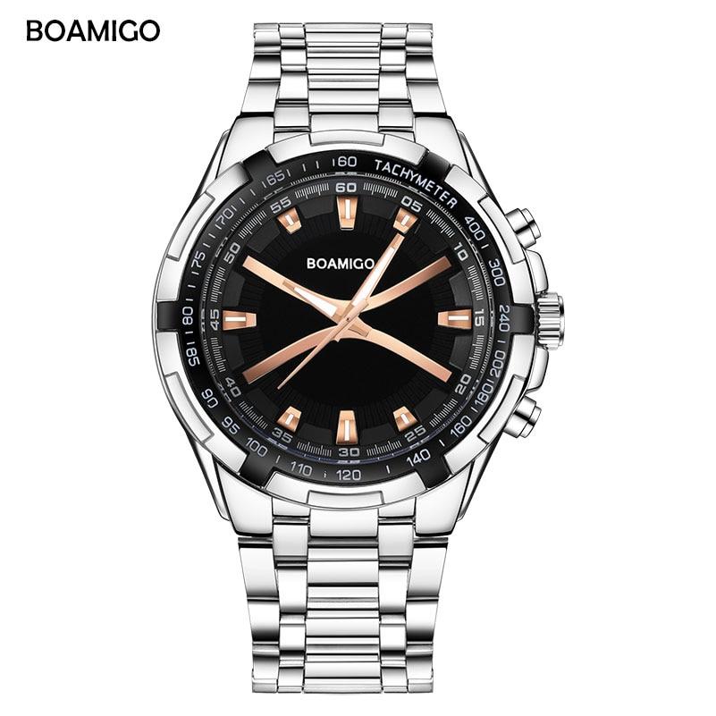 Heren quartz horloge eenvoudige heren horloges BOAMIGO merk analoge - Herenhorloges