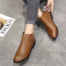 Wiosna i jesień panie Martin buty brytyjskim stylu niskie, pięty i kostki buty 2018 nowy retro koreański krótkie buty