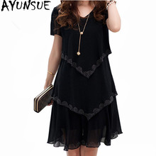 5XL размера плюс женская одежда шифоновое платье летние Вечерние платья на каждый день vestido de festa Синий Черный винтажный халат Femme Lyg