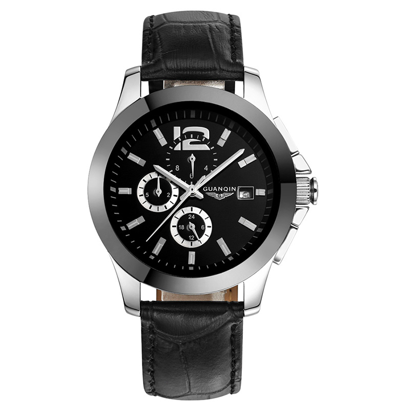 GUANQIN GQ50005 Mens Watches Top Brand Luxury Automatic Mechanical Watch Men 24 Hours Date Clock Ceramic Band Male Wrist Watches carnival men watch top brand luxury automatic male clock calfskin band day and date display black lens mechanical watches hot sa