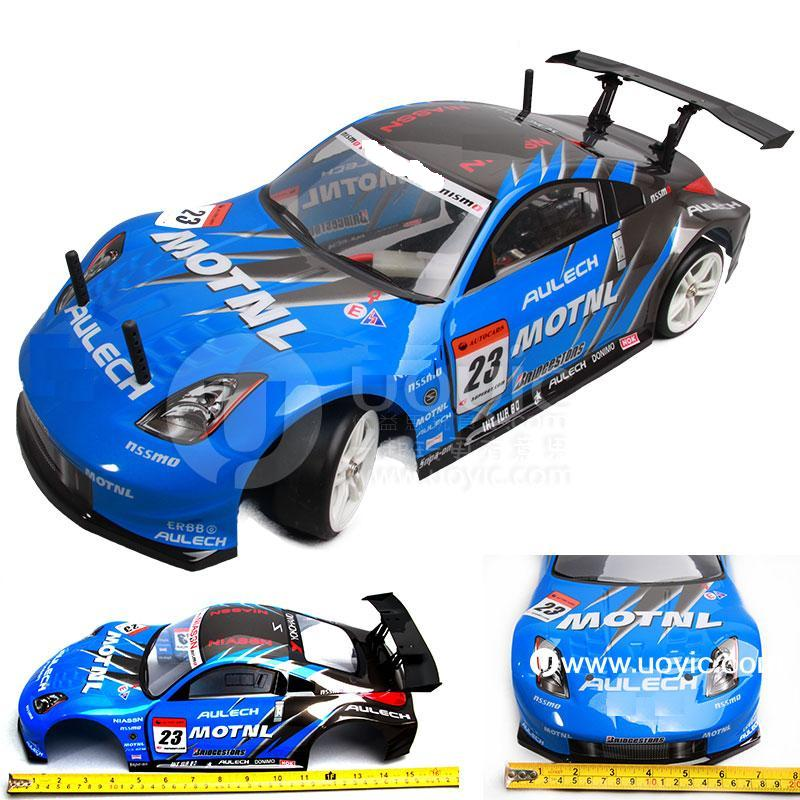 Ewellsold 012 190mm PVC painted Shell body for 1:10 1/10 RC car  red/blue color 2pcs/lot free shipping