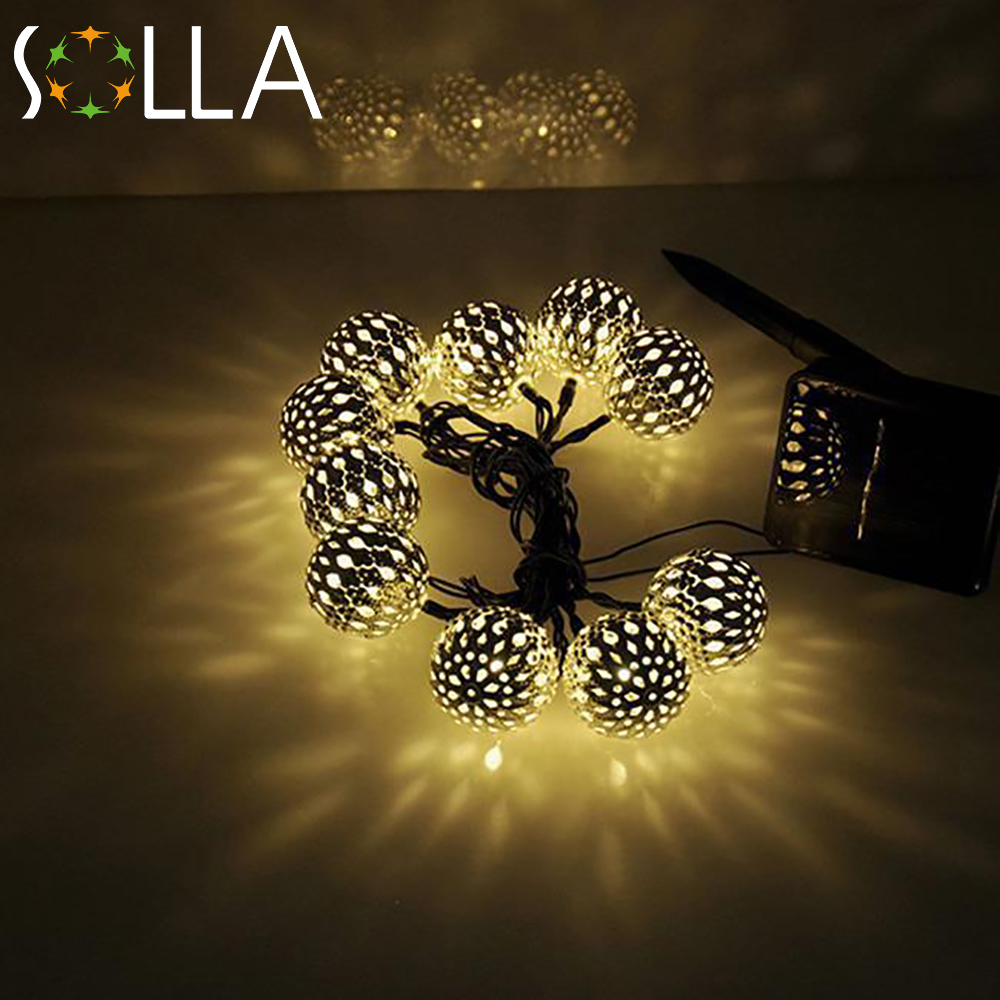 10 balls set wholesale moroccan string led fairy lights christmas. Black Bedroom Furniture Sets. Home Design Ideas