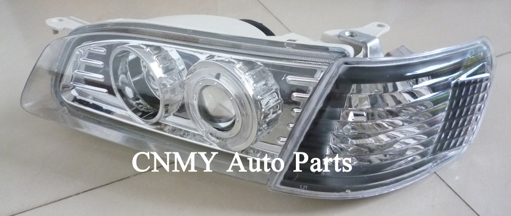1set 4pcs Angel Eyes Projector Lens Headlights Black Corner Signal Lights For 1995 2000 Toyota Corolla Ae110 Series In Car Light Embly From Automobiles