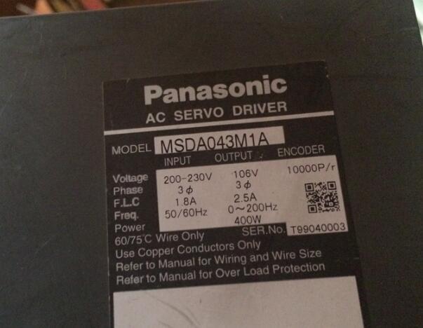 Servo driver   MSDA043M1A   , Used one , 90% appearance new , 3 months warranty  , in stock Servo driver   MSDA043M1A   , Used one , 90% appearance new , 3 months warranty  , in stock