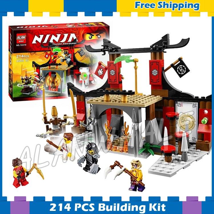 214 pièces Bela 10319 Dojo Confrontation Ninja Jouet Blocs de construction Jouets Éducatifs De Brique Compatible Avec Lego