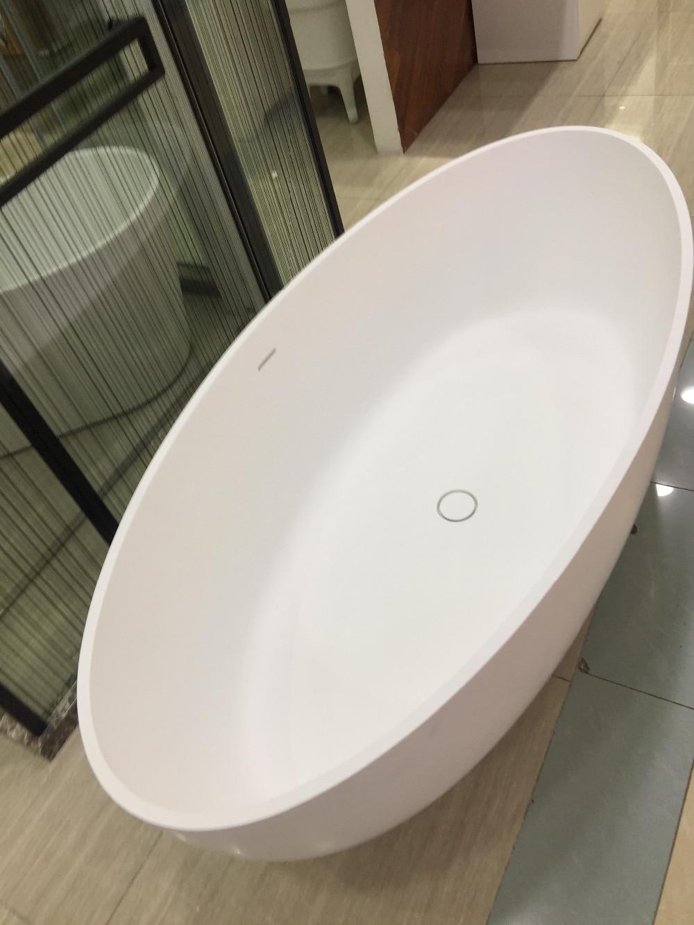1700x800x480mm Solid Surface Acrylic CUPC Approval Bathtub Rectangular Freestanding Corian Matt Tub RS6589