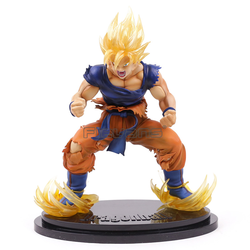Dragon Ball Kai Super Saiyan Son Goku Gokou Ver. 2 Statue PVC Figure Collectible Model Toy dragon ball dxf the super warriors vol 3 super saiyan rose gokou black and vegetto pvc figure collectible model toys kt4201