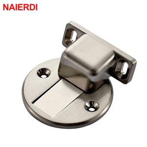 Магнитный дверной держатель NAIERDI, из сплава цинка, для крепления на пол