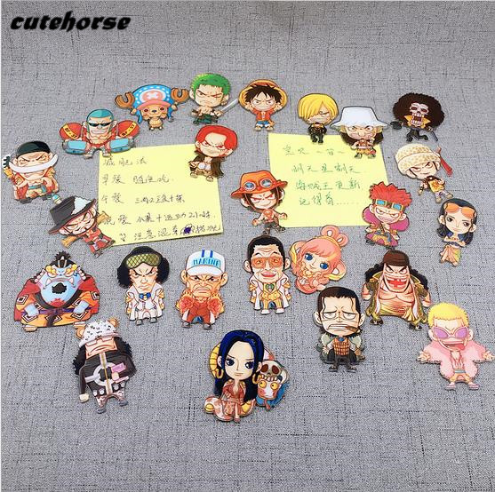 CUTEHORSE cartoon series the sea thief characters fridge magnets tape whiteboard acrylic magnetic stickers