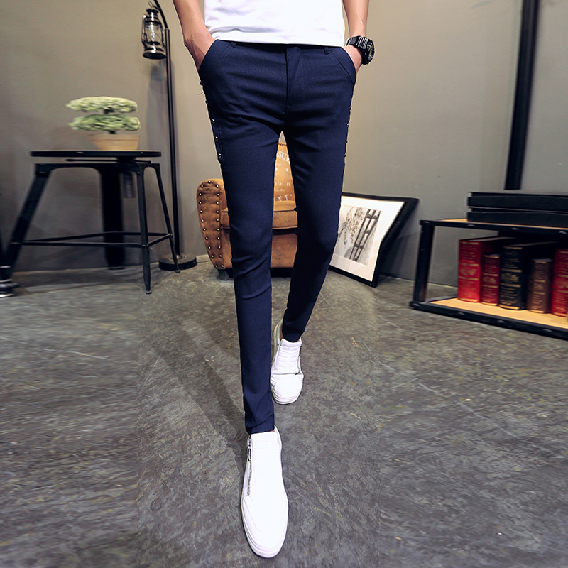 2019 New Style Fashion 2019 Dress Pants Men Summer All Match Slim Fit Mens Skinny Pants Streetwear Casual Formal Wear Business Trousers Male
