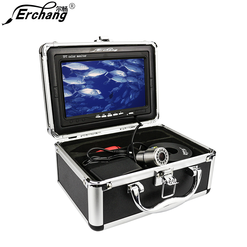 Erchang Original 7 30M Fish Finder HD 1000TVL Underwater Fishing Camera Video IR LED Sunshield 130