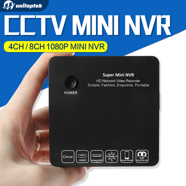 Super Mini NVR 4CH 8CH FOR Full HD IP Camera Network Video Recorder 1080P/960P/720P NVR Onvif HDMI E-SATA Support USB