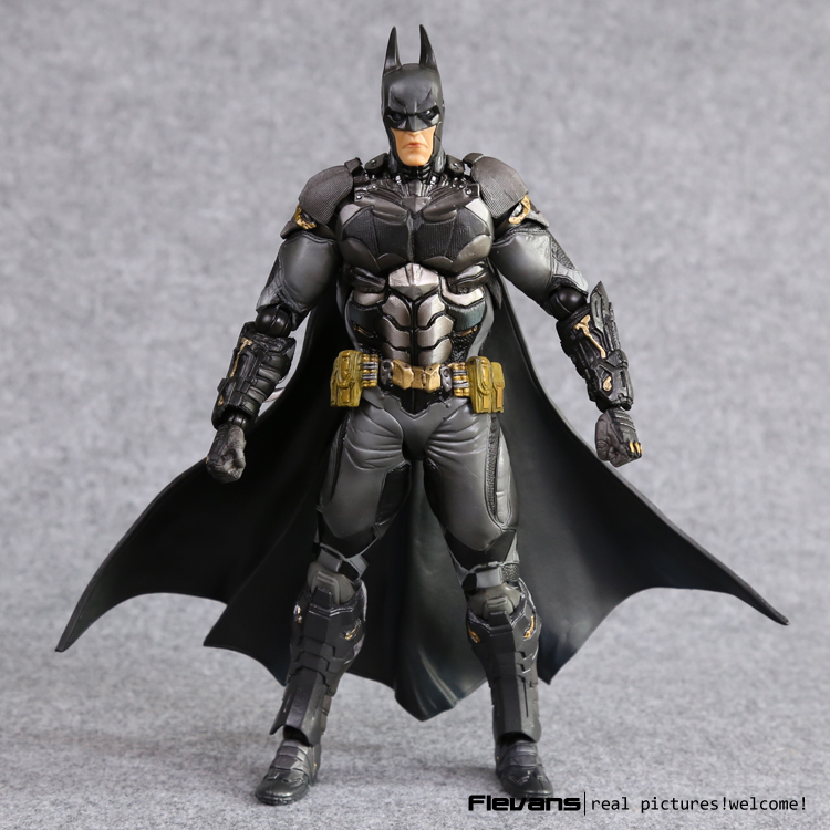 Play Arts KAI Batman Arkham Knight PVC Action Figure Collectible Model Toy 27cm 27cm play arts kai batman arkham knight pvc action figure collectible model toy bat man series movie figure kids diy model toys