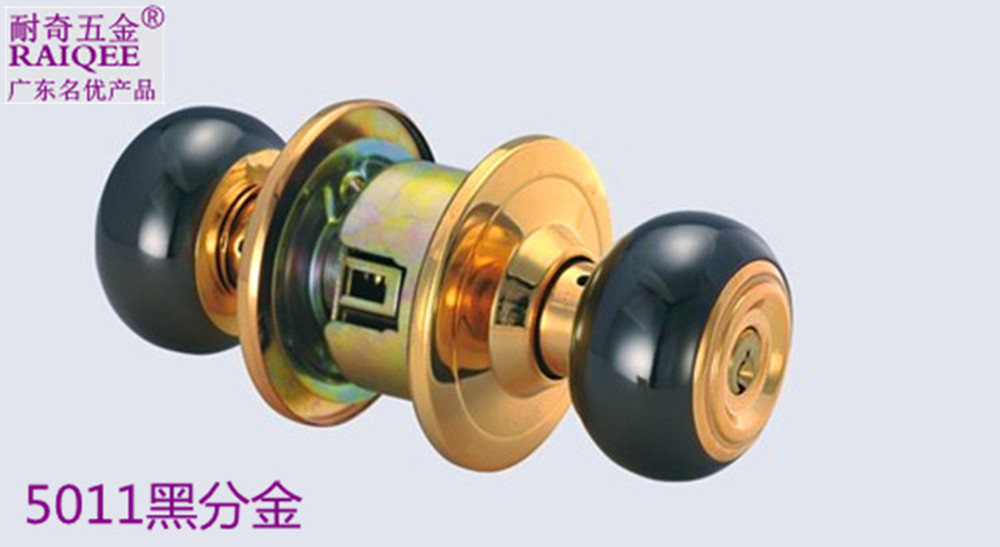 Factory outlets] Ball odd-resistant locks the toilet room door locks circular copper conductors and copper lock key