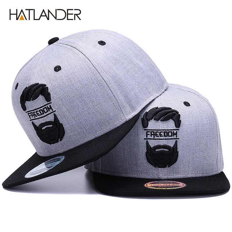 HATLANDER Original del casquillo del snapback planos de los hombres ala  hueso gorras de béisbol bordado 44b97a82760