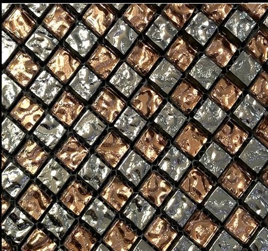 Sonderpreis Splitter goldfolie Kristallglas mosaik fliesen für küche ...
