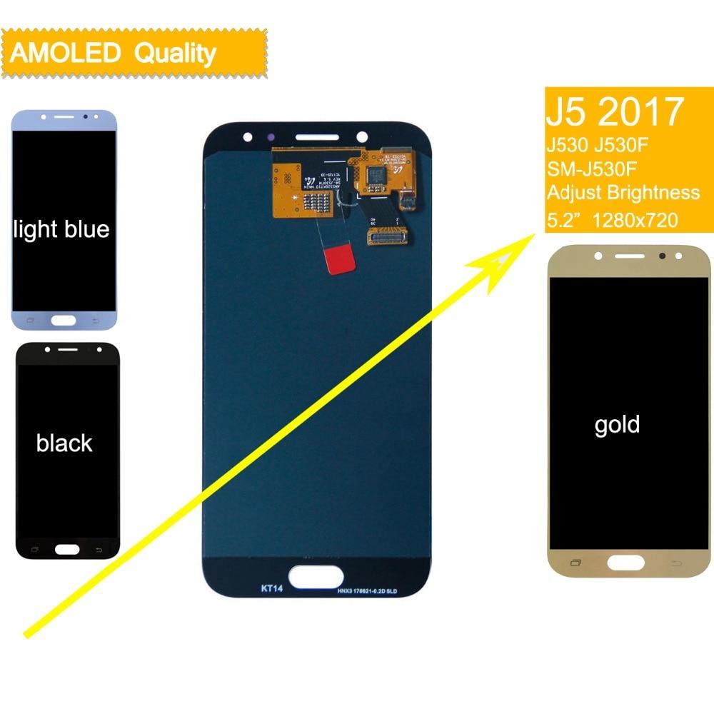 10 pçs/lote DHL Para SAMSUNG Galaxy J5 2017 Display LCD assembléia Tela de Toque Para SAMSUNG Galaxy J5 2017 J530F J530FN LCD completo