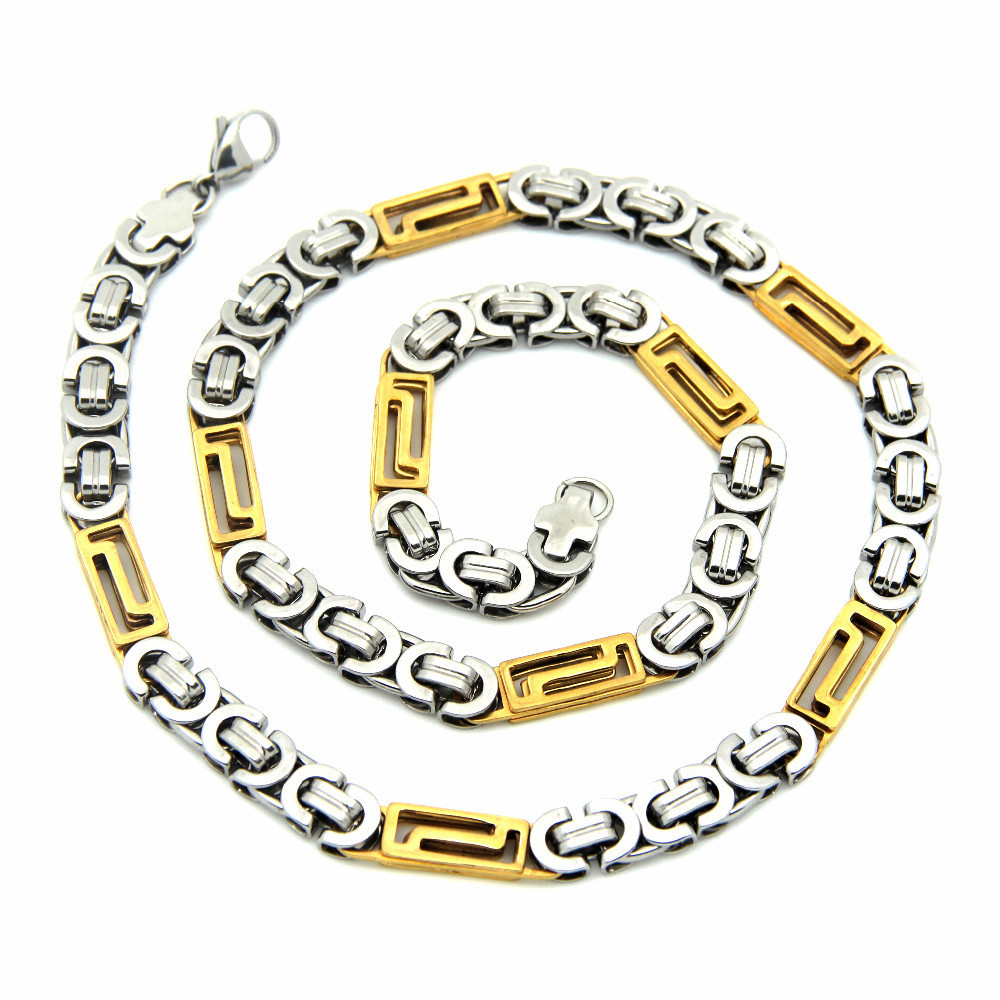 Fashion Men necklace crude stainless steel jewelry chain ...
