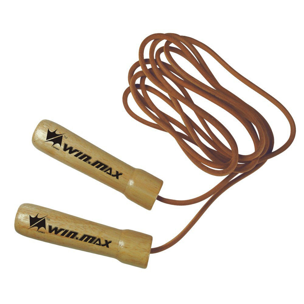 Pro Leather Skip Skipping Jump Speed Rope Adjustable Weighted Exercise Fitness Gym Ring