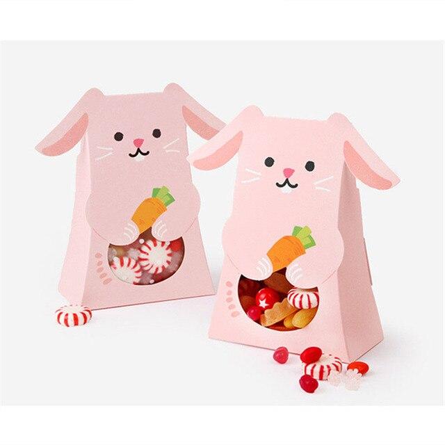 Exceptionnel 10 pcs Mignon Chat lapin Animal Papier Boîte De Bonbons Enfants  ML31
