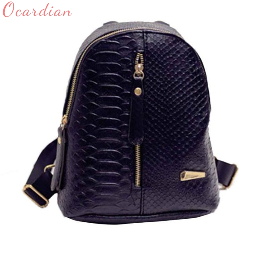 Ocardian 2017 Fashion Women Leather Backpacks mochila Schoolbags Travel Shoulder Bag leather backpack mochilas de couro жк телевизор supra 39 stv lc40st1000f stv lc40st1000f