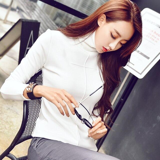 87e1e4ff Plus size 3XL cotton t-shirts women harajuku sexy long sleeve Turtleneck  plus velvet t