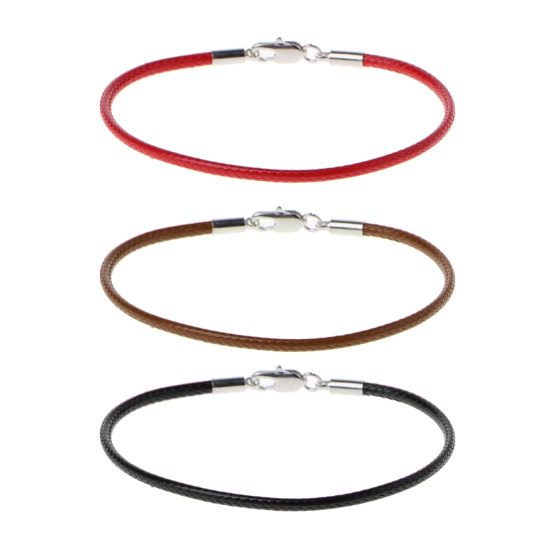 String Bracelet Jewelry-Line Classic Black Fashion Women Rope Lobster Red
