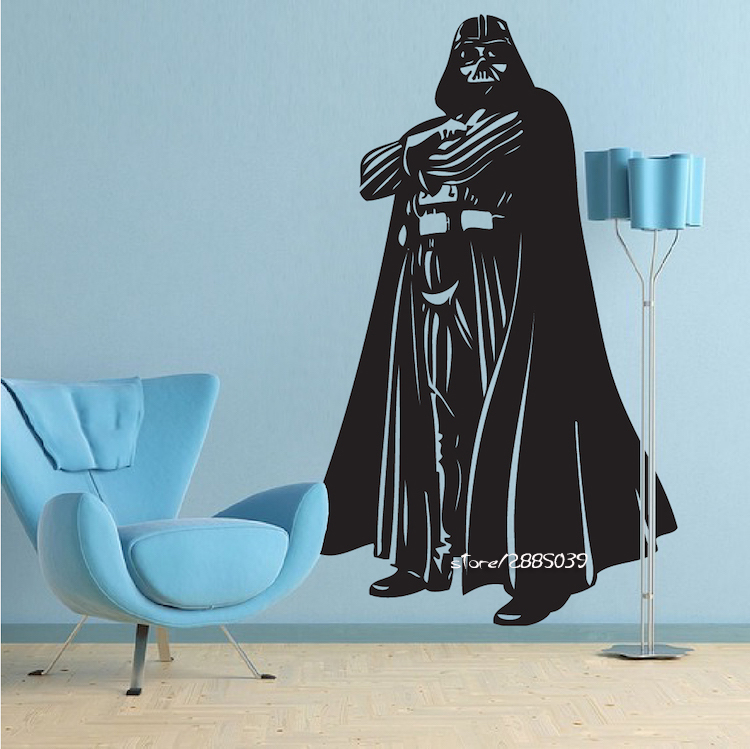 Darth Vader Vinyl Wall Stickers New Design War Star Movie Wallpaper Home Decor Decal DIY 3D house decoration Home Decor SA778