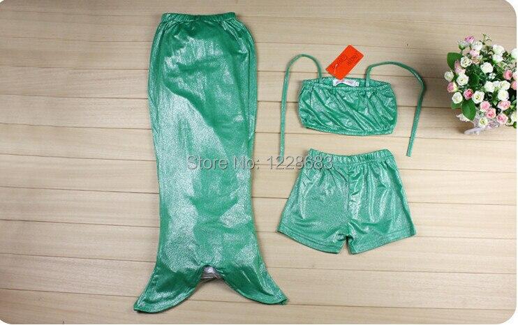 Traje de cola de sirena para niños niño niñas baño 3 colores 5 tamaños  Inculding sujetador superior pantalones cortos y cola de sirena en  Disfraces TV y ... 0ed97a26ea1