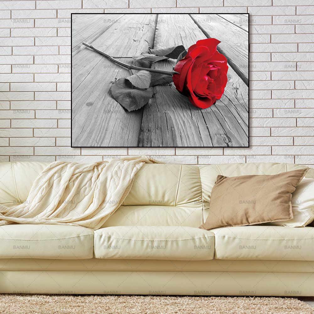 حائط لوح رسم الفن صور الجدار ملصق الديكور لغرفة المعيشة لا الإطار يطبع ورد جميل على قماش ديكور المنزل
