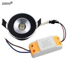 5pcs/Lot 1W 3W Recessed Led Downlight  360 Degree Rotation Mini Cabinet Ceiling Spot Light With LED Driver AC85-265V