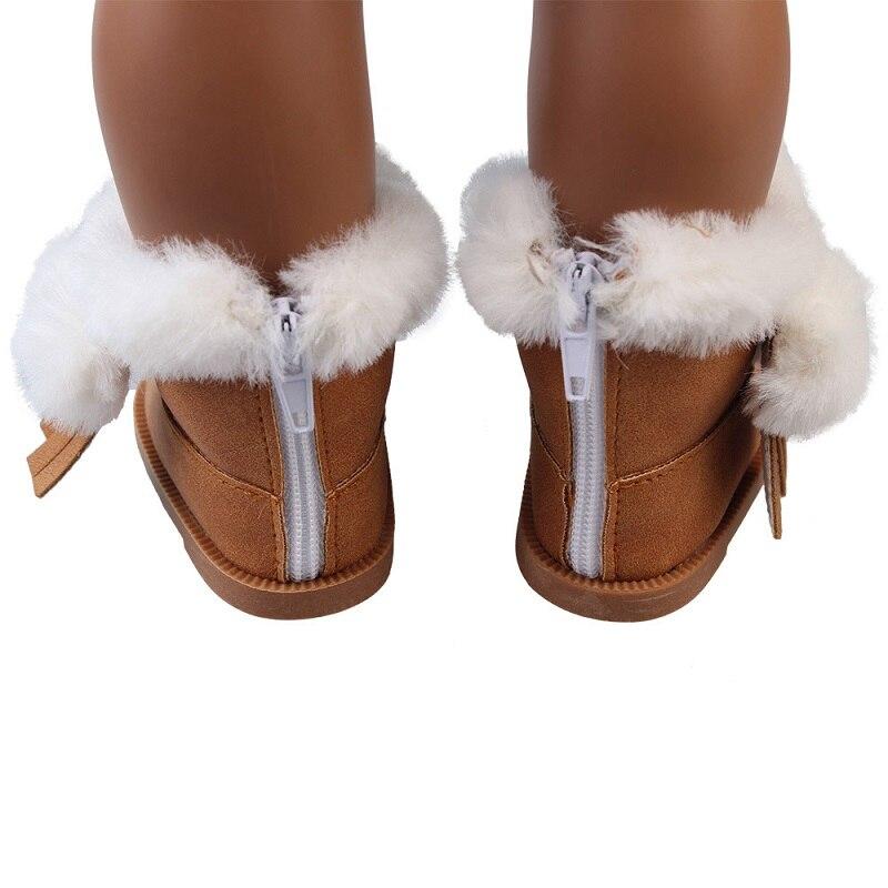 Botas de muñeca peludas para la muñeca de 18 pulgadas Zapatos de ...