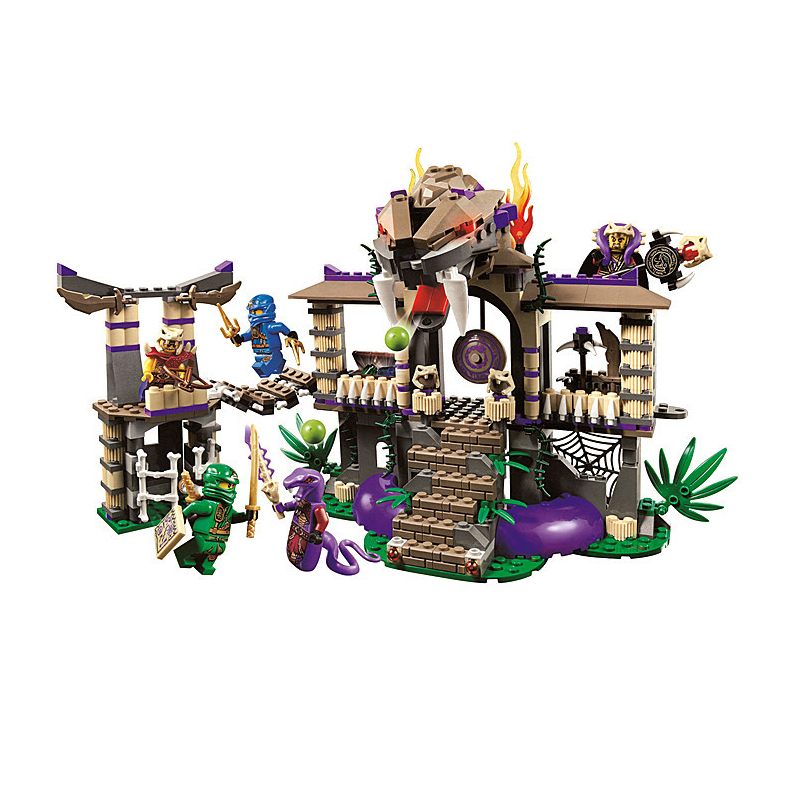 BELA 10324 Ninjago Enter The Serpent Building Blocks Figuras Juguetes Assembling Toys for Children 70749 Compatible with Legoe