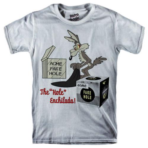 ACME FAKE HOLE T-shirt Wile E. Coyote Road Runner Beep Beep