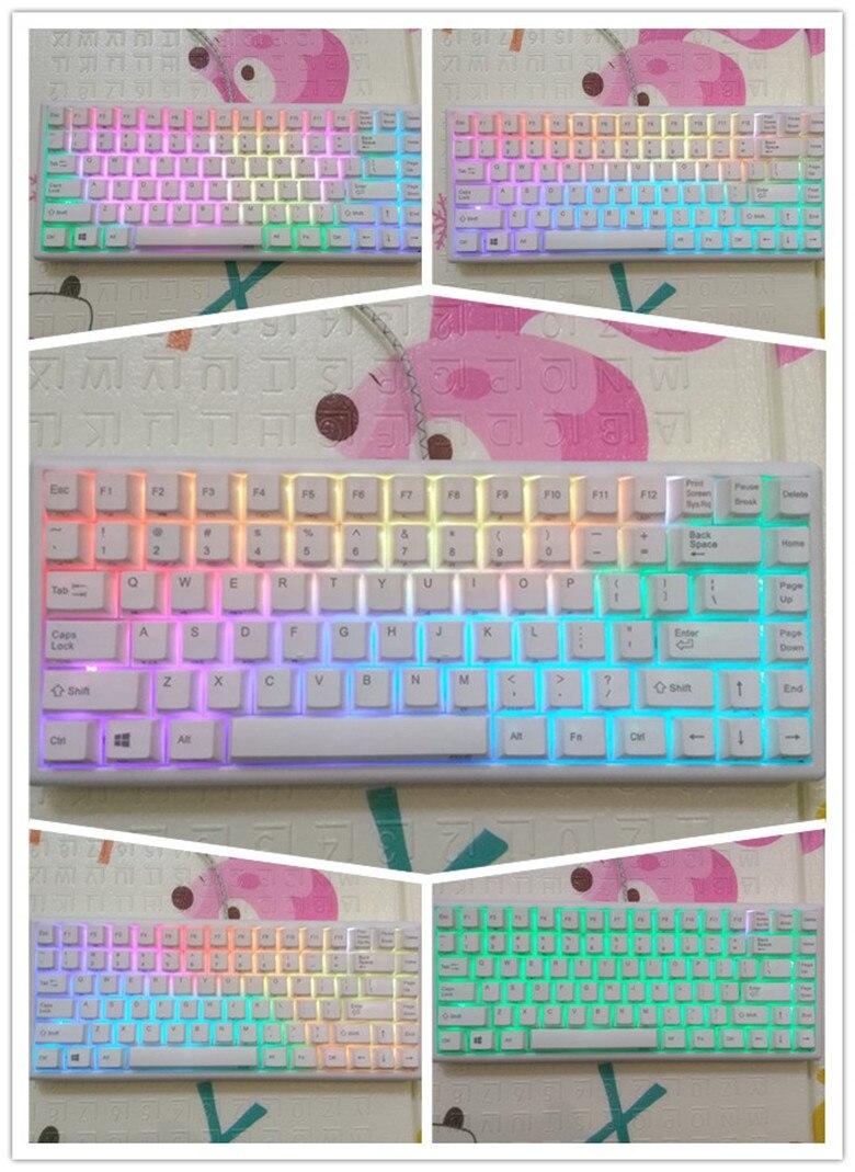 Mini clavier Prune NIS 84 électrostatique capacitif clavier mécanique 35g topre structure RGB clavier de jeu programmable
