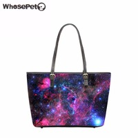 WHOSEPET Stylish Galaxy Printing Women S Handbag Large Women Leather Handbags Women Bags Lady High Capacity
