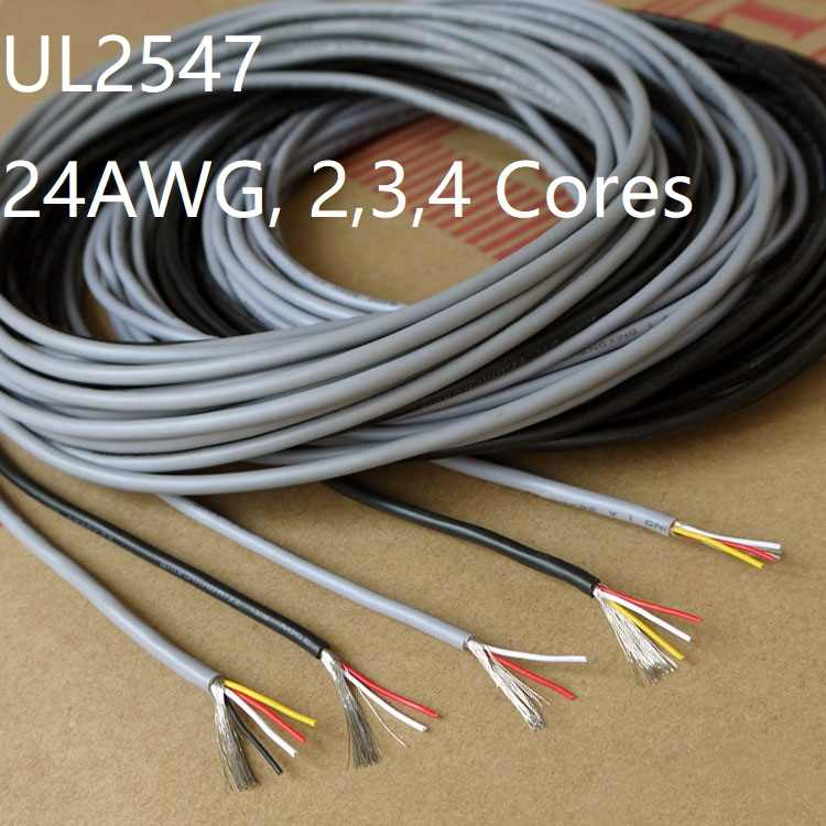 UL2547 Draht Kabel Abgeschirmters Shielded Hookup Wire 24-28AWG Audio-Signalleit
