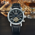 MCE Branded Military Watch Men leather Automatic Self-wind Relogios Masculino Watch Mechanical Luxury Watch Tourbillon Clock