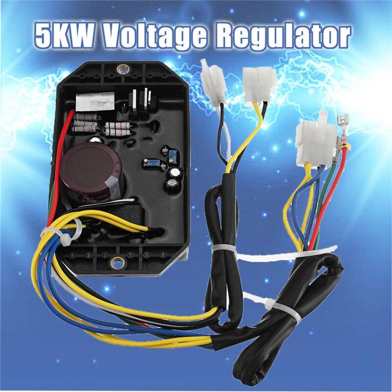 5KW 10 Wire 186F 50S AVR Voltage Regulator Rectifier For Kipor Kama For Diesel Generator KDE5000 KDE6500 KDE6700 186f 178f kipor diesel generator voltage regulator kama diesel generator charger