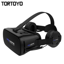 New VR HERE 3D VR Glasses Virtual Reality Glasses Head Mount Helmet VR Box with HIFI VR Headphone Headset For 4.0-6.0 inch Phone