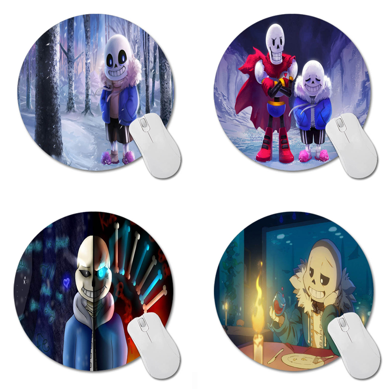 Undertale Round 200*200*2mm Mouse Pad Mousepad Computer PC Laptop Comfort Gaming Mouse Pad