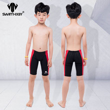 HXBY Professional Kids Swimwear Boys Swimsuit Swim Briefs Mens Swim Wear Swimming Trunks Men Swimwear Shorts Swimsuit(China)
