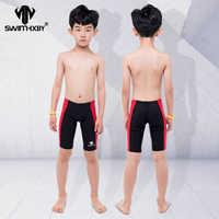 HXBY Professional Kids Swimwear Boys Swimsuit Swim Briefs Mens Swim Wear Swimming Trunks Men Swimwear Shorts Swimsuit