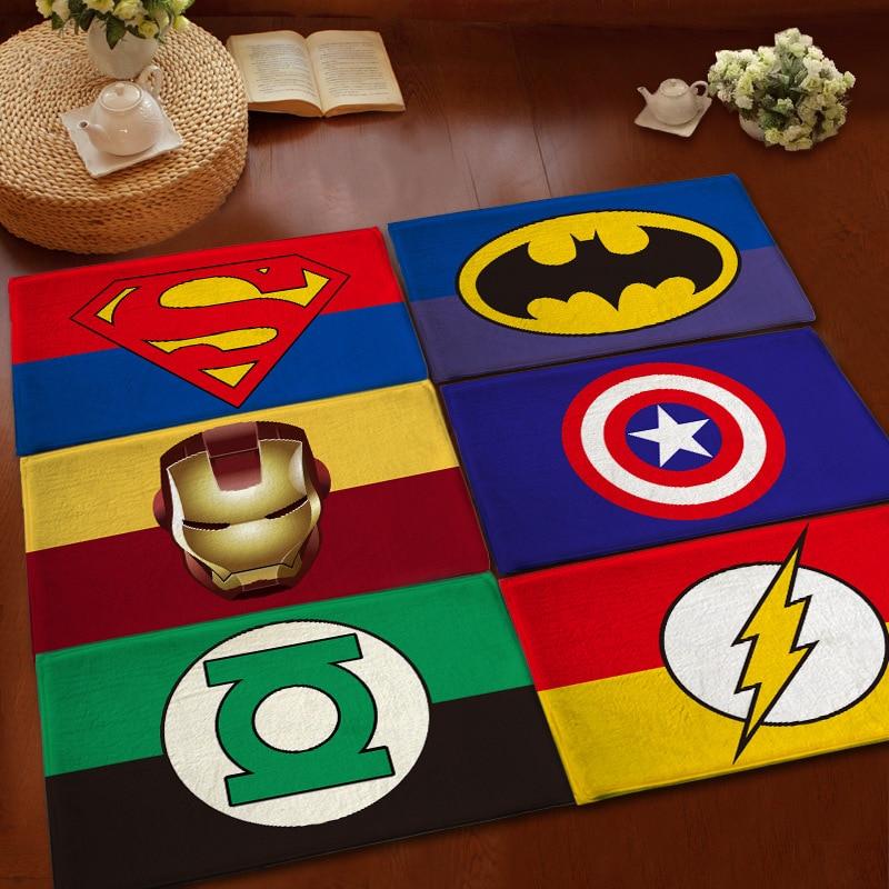 Marvelous Superman / Batman / US Captain / The Avengers Thicker Mat Doormat Flannel  Printing Non Slip Floor Rug 80x120CM Kitchen Carpet In Carpet From Home U0026  Garden ...