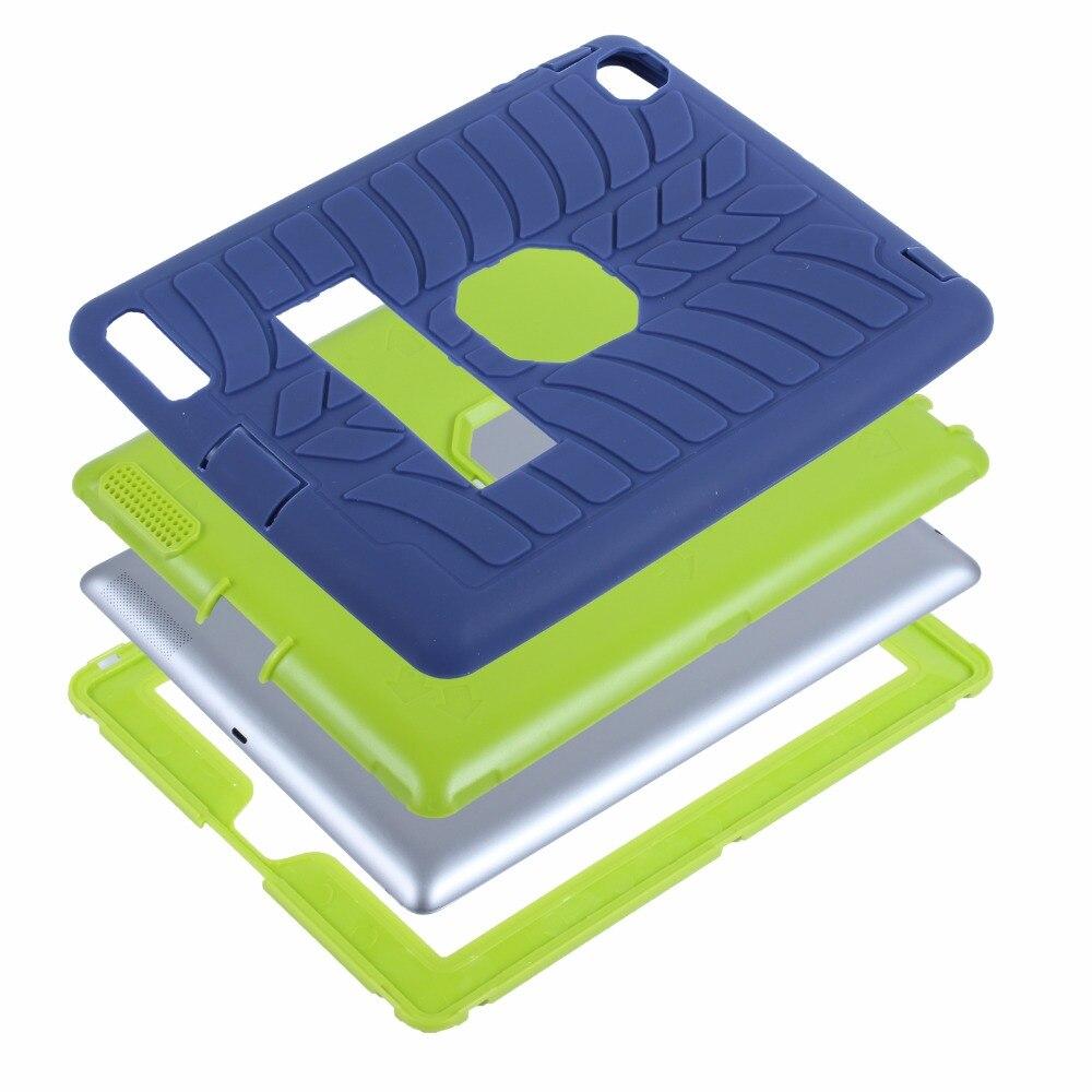 2017 yeni çocuk case ipad 2 4 3 için lastik desen hibrid standı - Tablet Aksesuarları - Fotoğraf 6