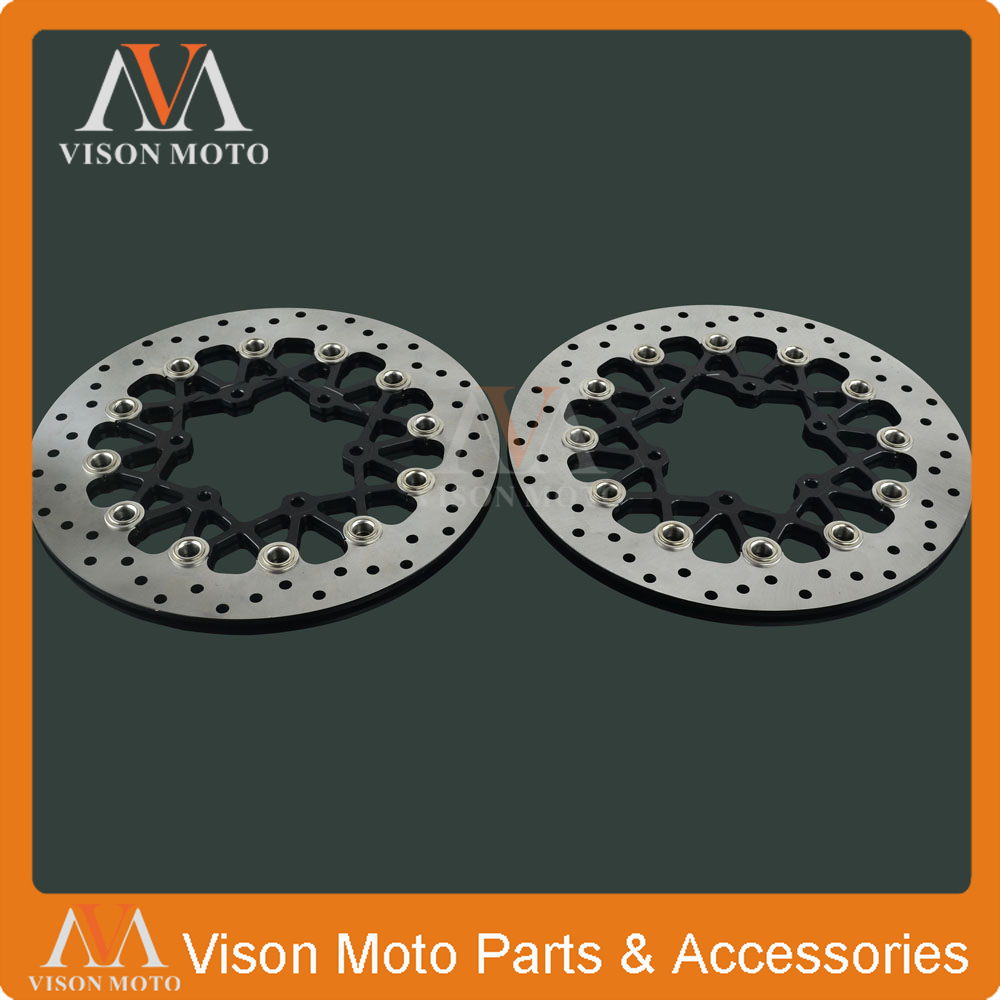 2PCS Front Floating Brake Disc Rotor For SUZUKI GSXR600 GSXR750 2008 2009 2010 2011 2012 2013 2014 GSXR1000 GSXR 600 750 1000 motorcycle rear brake disc for suzuki gsxr600 gsxr750 gsxr1000 abs gsxr1100 sv650 svs650 sv1000 svs1000 tlr1000 tls1000 new