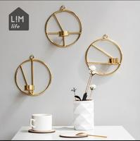 Geometric Wall Candlestick Creative Candle Holders Decoration Home Decoration Wedding Festival Candlestick And Creative Candle